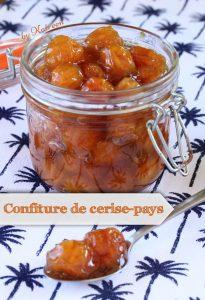 confiture cerise-pays Martinique cadeaux gourmands