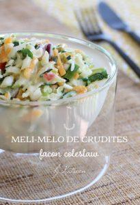 méli mélo crudités coleslaw Guadeloupe