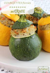 courgette farcie au crabe cuisson des légumes
