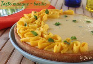 Tarte mangue-basilic