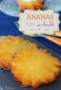 ananas rôti au shrubb Martinique