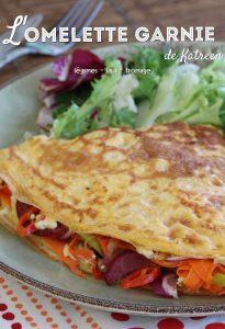 omelette garnie légumes et lard booster son système immunitaire