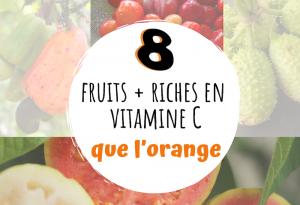 fruits contenant plus de vitamine C que l'orange