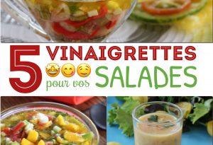 5 vinaigrettes pour salades