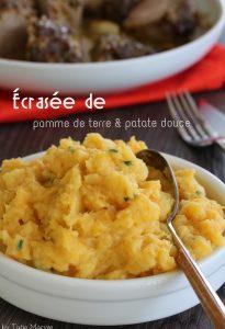 Ecrasée de pomme de terre patate douce légumes antillais