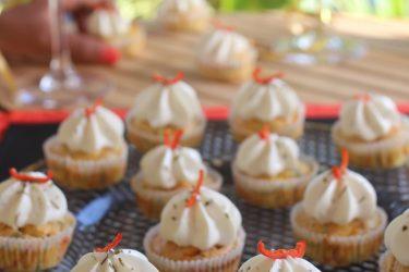 mini Cupcakes chèvre saumon antillais