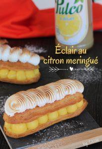 Éclair au citron meringué