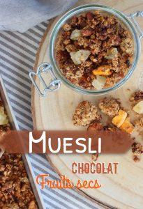 Muesli chocolat fruits secs Antilles