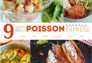 9 recettes de poisson express