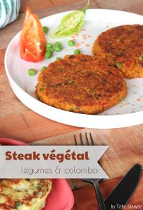 steak végétal antillais au colombo