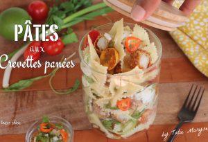 pâtes aux crevettes panées sauce chien