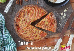 tarte à l'abricot pays Régilait