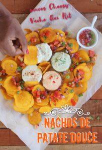 nachos de patate douce créole