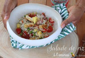 salade de riz à l'ananas