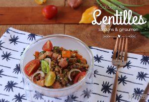 Salade de lentilles lardons giraumon