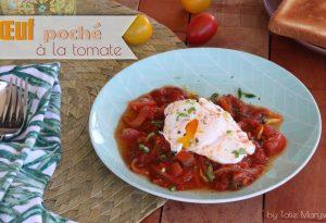 oeuf poché à la tomate