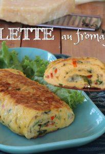 Omelette au fromage et aux herbes recettes avec peu d'ingrédients