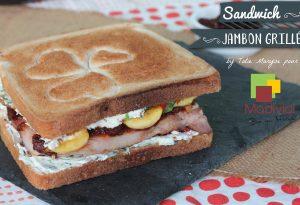 Sandwich jambon grillé et banane frite Madivial
