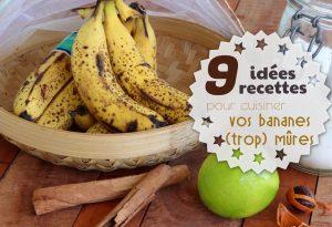 recettes bananes très mûres