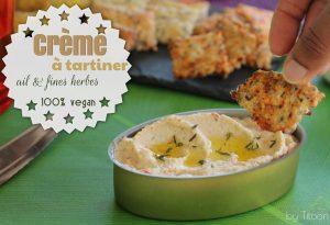 crème à tartiner ails et fines herbes vegan antillaise