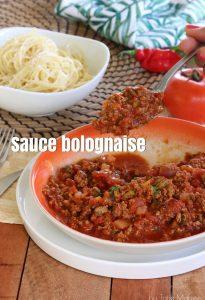 sauce bolognaise créole