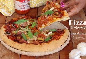 Pizza 2 cheese et piment doux rouge DORMOY