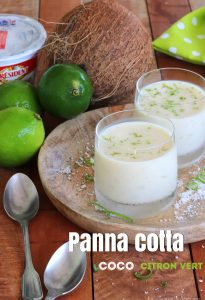 Panna cotta coco citron vert antillaise
