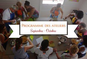 programme des ateliers Tatie Maryse sept-oct
