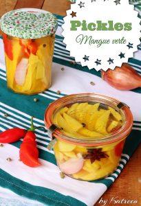 Pickles mangue verte et anis antillais