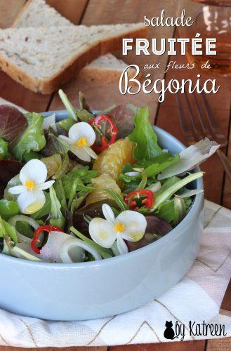 salade fruitée aux fleurs de bégonia
